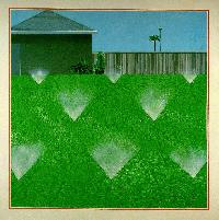Hockney - A Lawn Being Sprinked