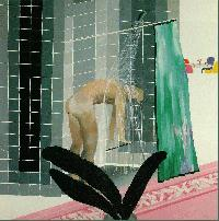 Hockney - Man Taking Shower in Beverly Hills