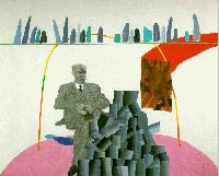 Hockney - Portrait Surrounded by Artistic Devices