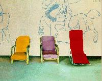 Hockney - Three Chairs with a Section of a Picasso Mural