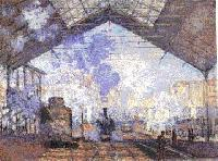 Monet - Interieur de la Gare Saint-Lazare a Paris