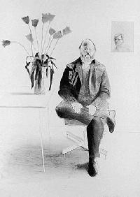 Hockney - Henry Seated with Tulips